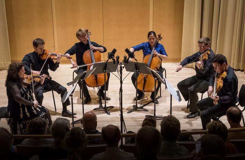 Sextet of strings playing at the Gearan Center, Geneva NY.