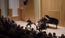 Three strings and piano at the Gearan Center.
