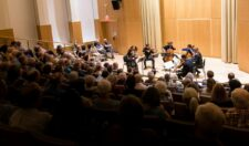 2016 Strings event at the Gearan Center in Geneva featuring two violins, two cellos and two violas.